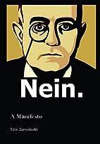 Nein : A Manifesto by Eric Jarosinski