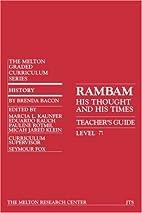 Rambam: His Life And Times (Student…