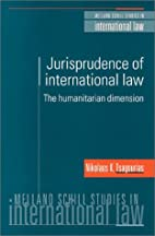 Jurisprudence of International Law by N. K.…