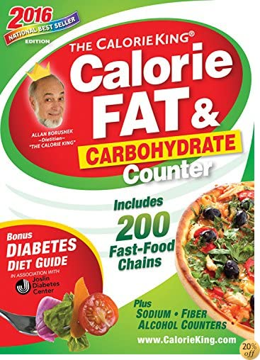 TThe CalorieKing Calorie, Fat & Carbohydrate Counter 2016: Pocket-Size Edition