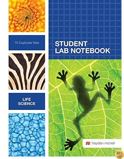 TLife Sciences Student Lab Notebook: 70 Carbonless Duplicate Sets
