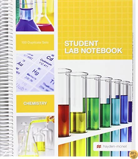 TStudent Lab Notebook: 100 Spiral Bound duplicate pages(Package may vary)