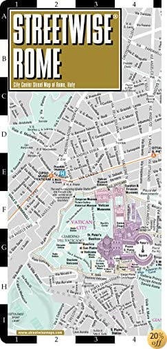 TStreetwise Rome Map - Laminated City Center Street Map of Rome, Italy - Folding pocket size travel map with metro map, subway
