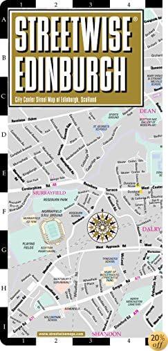 TStreetwise Edinburgh Map - Laminated City Center Street Map of Edinburgh, Scotland (Streetwise (Streetwise Maps))