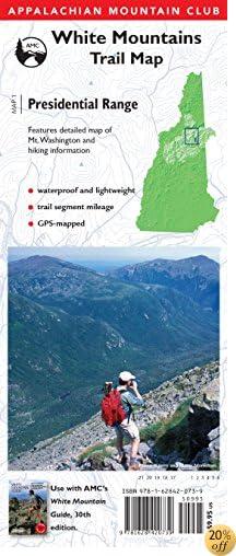 TAMC Map: Presidential Range: White Mountains Trail Map (Adventure Series)