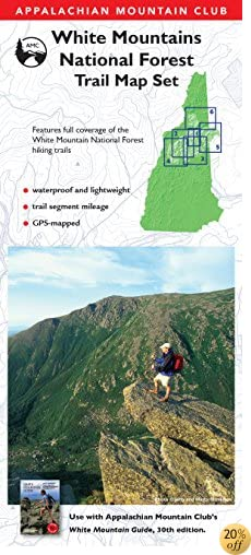 TAMC White Mountain National Forest Trail Map Set, 3rd (Appalachian Mountain Club)