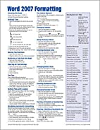 Microsoft Word 2007 Formatting…