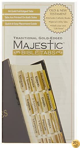 TMajestic Traditional Gold-Edged Bible Tabs