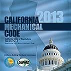 2013 California Mechanical Code by IAPMO