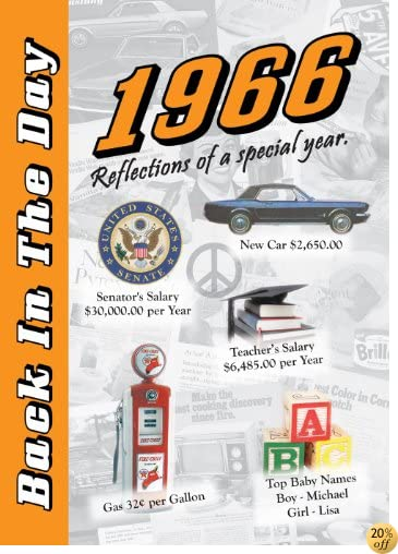 T1966 Back In The Day Almanac -- 24-page Booklet / Greeting Card