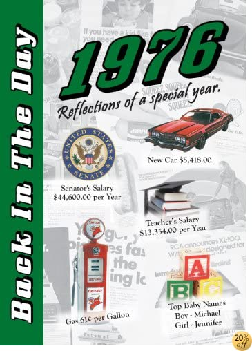 T1976 Back In The Day Almanac -- 24-page Booklet / Greeting Card