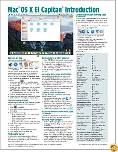 TMac OS X El Capitan Introduction Quick Reference Guide (Cheat Sheet of Instructions, Tips & Shortcuts - Laminated Guide)