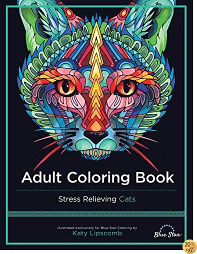 TAdult Coloring Book: Stress Relieving Cats