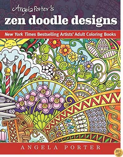 TAngela Porter's Zen Doodle Designs: New York Times Bestselling Artists' Adult Coloring Books