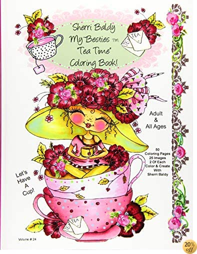 TSherri Baldy My-Besties Tea Time Coloring Book