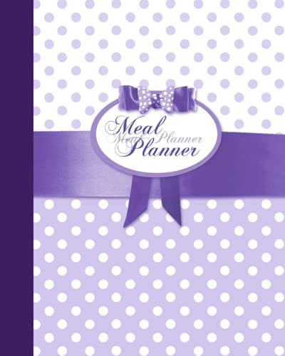 meal-planner-weekly-menu-planner-with-a-grocery-list-52-spacious-records-in-a-large-soft-covered-not-from-our-polka-dots-in-purple-range-food-planners