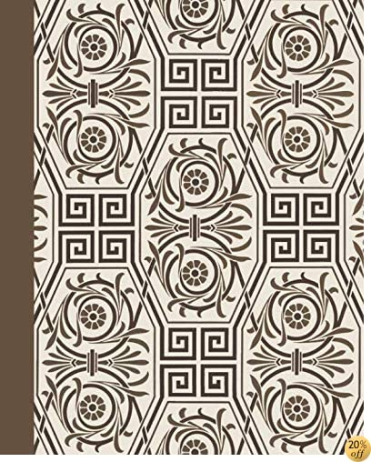 TSketch Journal: Majestic 8x10 - Pages are LINED ON THE BOTTOM THIRD with blank space on top (8x10 Patterns & Designs Sketch Journal Series)