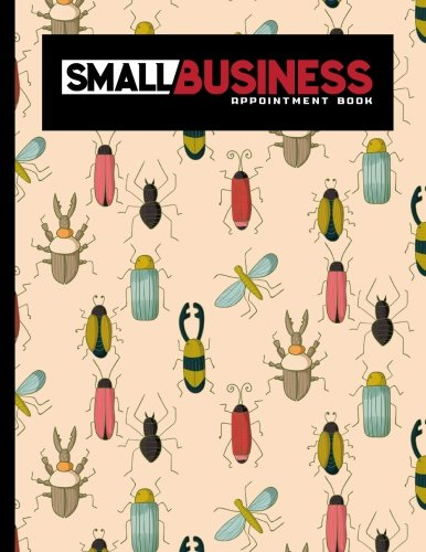 small-business-appointment-book-7-columns-appointment-diary-appointment-scheduler-book-daily-appointments-cute-insects-bugs-cover-volume-26