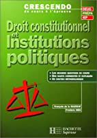 Droit constitutionnel et institutions…