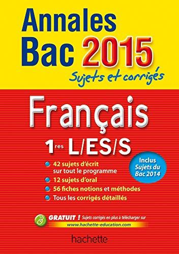 annales-bac-2015-francais-1re-l-es-s