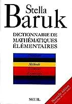 Dictionnaire des mathématiques…