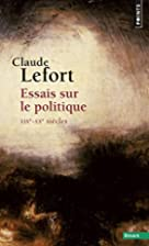 Democracy and Political Theory by Claude…