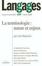 La terminologie, nature et enjeux by…