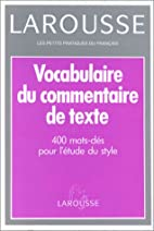 Vocabulaire du commentaire de texte by…