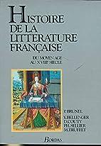 Histoire de la littérature française : Du…