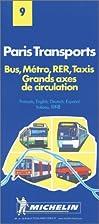 Michelin Paris Transports Map No. 9…