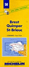 Michelin Brest/Quimper/St. Brieuc (No. 58)…