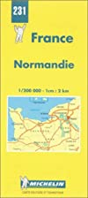Normandy Map: No. 231 by Michelin Tyre PLC
