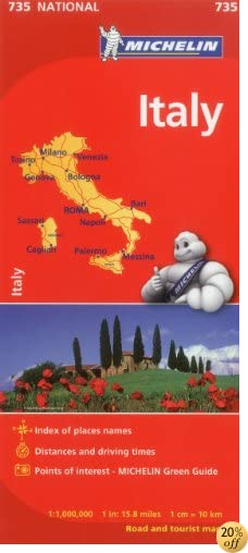TMichelin Italy Map 735 (Maps/Country (Michelin)) (Italian, English, French, German, Spanish and Dutch Edition)
