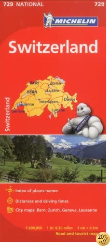 TMichelin Switzerland Map 729 (Maps/Country (Michelin))
