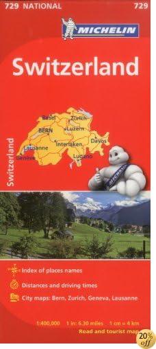 Michelin Switzerland Map 729 (Maps/Country (Michelin))