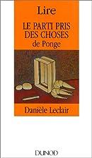 Lire Le parti pris des choses (Lire) by…