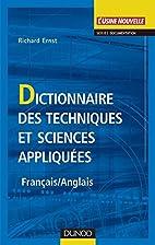 DICTIONNAIRE DES TECHNIQUES ET SCIENCES…