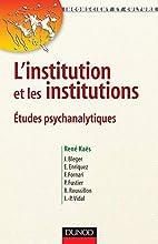 L'institution et les institutions :…