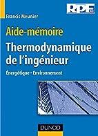 Aide-mémoire de thermodynamique de…