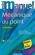 Mini Manuel de Mécanique du point - 2e…
