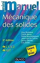 Mini manuel de mécanique des solides - 2e…