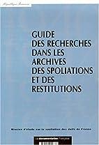 Guide des Recherches dans les Archives des…