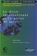 Le droit international et la peine de mort…