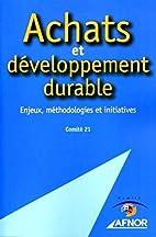 Achats et developpement durable (French…
