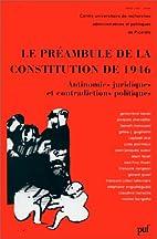 Préambule de la constitution de 1946, 1re…