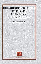 Histoire et sociologie en France : de…