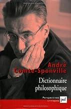 Dictionnaire philosophique by André…