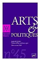 Arts et politiques by Michel Prigent