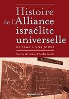 Histoire de l'Alliance israélite…