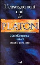 L'enseignement oral de Platon: Une nouvelle…